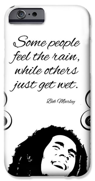 Quote iPhone Cases - Get Wet Or Feel Rain iPhone Case by Gina Dsgn