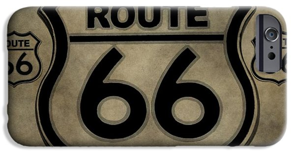 Heading Out iPhone Cases - Get Your Kicks On Route 66 iPhone Case by Dan Sproul