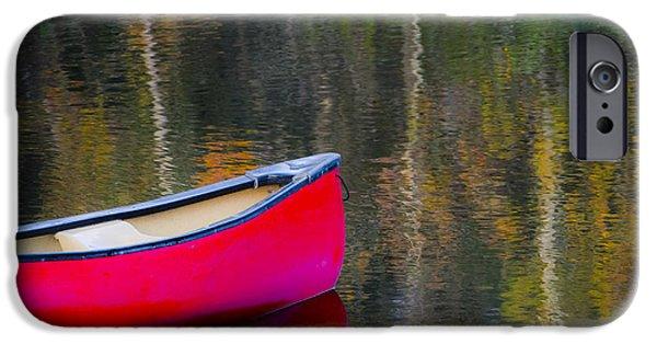 Canoe iPhone Cases - Getaway Canoe iPhone Case by Carolyn Marshall
