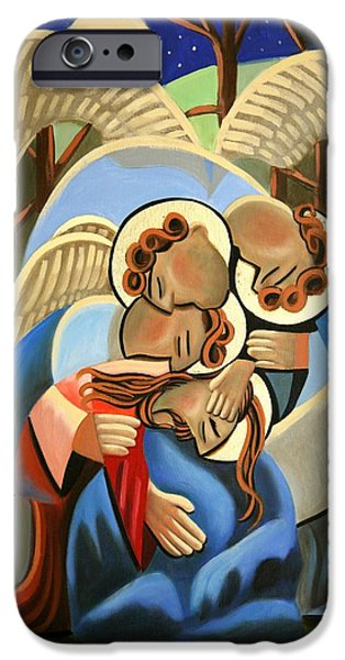 Night Angel Digital Art iPhone Cases - Gethsemane The Hour Is Near iPhone Case by Anthony Falbo