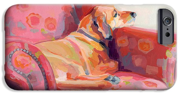 Hound iPhone Cases - Getting Cozy iPhone Case by Kimberly Santini