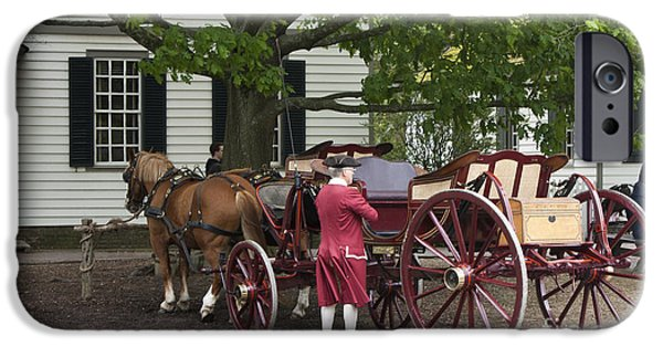 Historic Triangle iPhone Cases - Getting Ready to Ride iPhone Case by Teresa Mucha