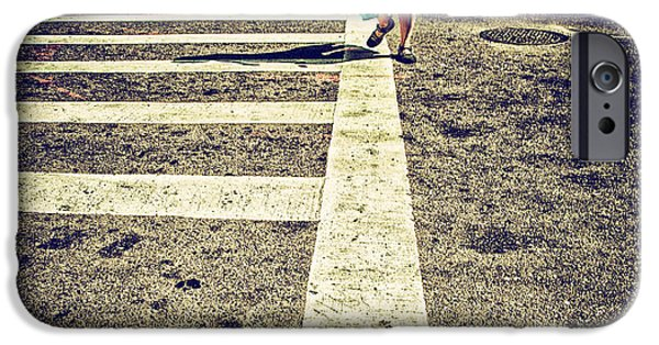Crosswalk Photographs iPhone Cases - Getting Somewhere iPhone Case by Karol  Livote