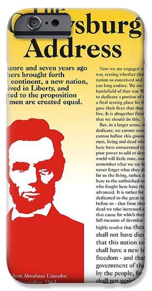 Lincoln Speech Digital iPhone Cases - Gettysburg Address iPhone Case by Alan Levine