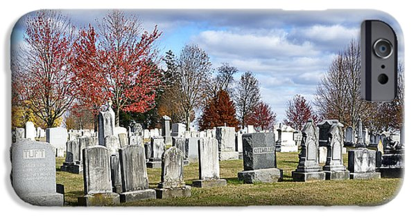 Battlefield Site iPhone Cases - Gettysburg National Cemetery iPhone Case by Brendan Reals