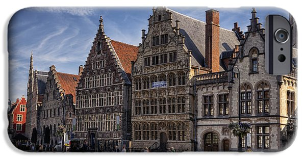 Guild iPhone Cases - Ghent Guild Houses iPhone Case by Joan Carroll