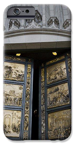 Michaelangelo iPhone Cases - Ghiberti Doors iPhone Case by David Bearden