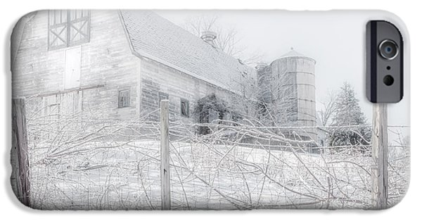 New England Dairy Farms iPhone Cases - Ghost Barn iPhone Case by Bill  Wakeley