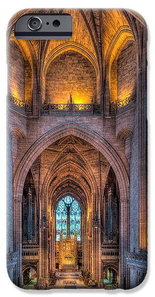 Balcony Digital iPhone Cases - Ghost in the Cathedral iPhone Case by Adrian Evans