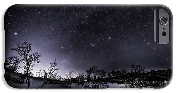 3.14 iPhone Cases - Ghost night iPhone Case by Frank Olsen