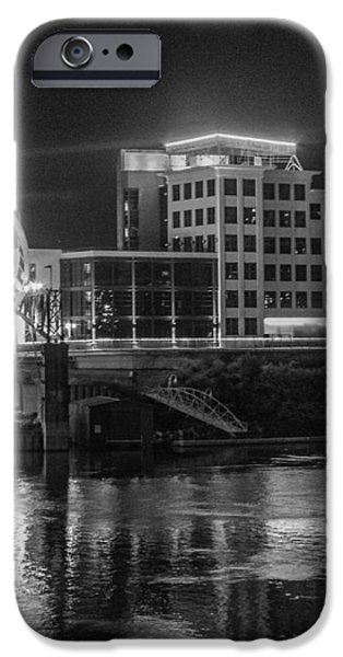 Ghost of East Bank Reflecting in Water iPhone Case by Robert Hebert