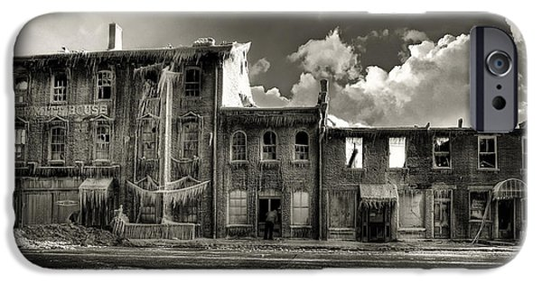 Creepy iPhone Cases - Ghost of Our Town iPhone Case by Jaki Miller