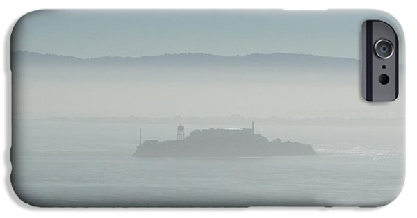 Alcatraz Pyrography iPhone Cases - Ghost of the Past iPhone Case by DUG Harpster