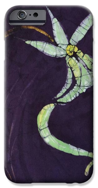 One Tapestries - Textiles iPhone Cases - Ghost On Purple iPhone Case by Kay Shaffer
