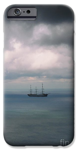 Pirate Ship iPhone Cases - Ghost Ship iPhone Case by Margie Hurwich