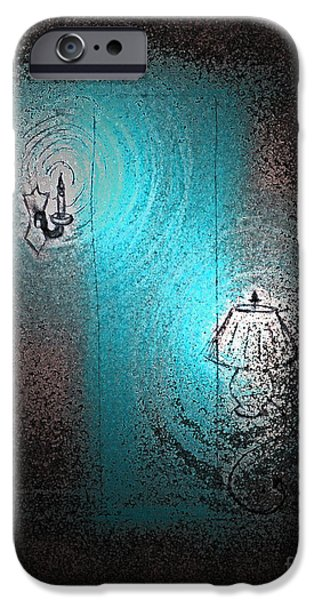 Night Lamp Drawings iPhone Cases - Ghost Stories Enniscoe Nights by jrr iPhone Case by First Star Art