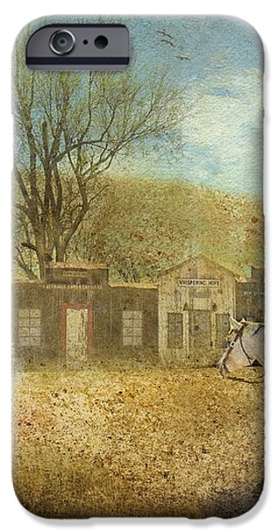 Ghost Town #1 iPhone Case by Betty LaRue