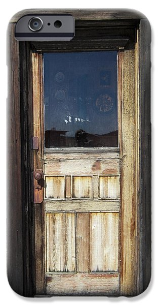 Cabin Window Digital iPhone Cases - Ghost Town Handcrafted Door iPhone Case by Daniel Hagerman