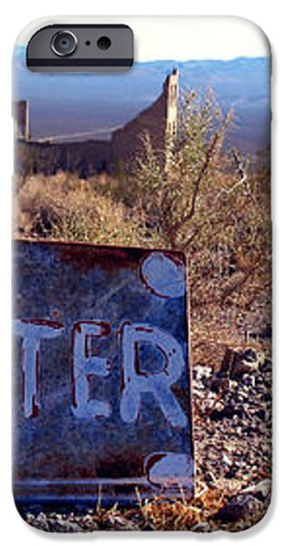 Ghost Town - No Water iPhone Case by Maria Arango