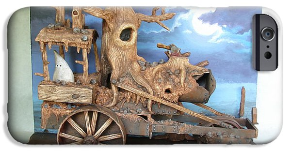 Full Sculptures iPhone Cases - Ghost Tractor iPhone Case by Stuart Swartz