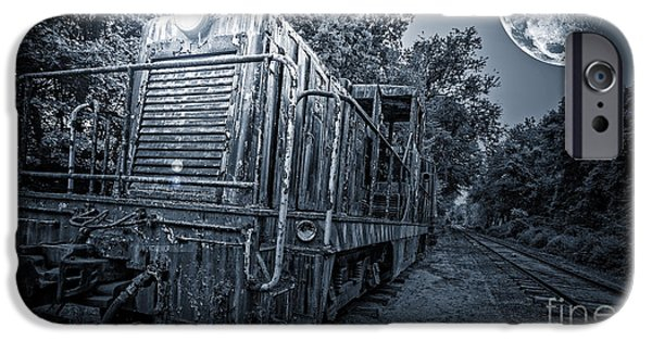 Moon Light iPhone Cases - Ghost Train iPhone Case by Edward Fielding