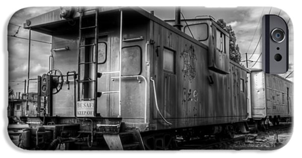 Caboose Photographs iPhone Cases - Ghostly Caboose iPhone Case by James Barber