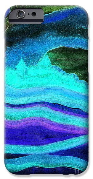 Archetype Paintings iPhone Cases - Ghostly Castle by jrr iPhone Case by First Star Art
