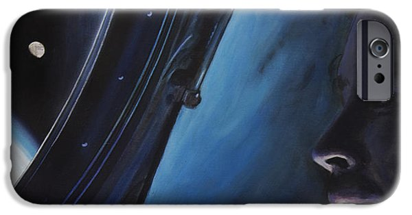 Science Paintings iPhone Cases - Ghosts Of Gemini iPhone Case by Simon Kregar