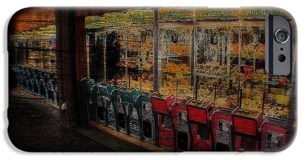 Turn Of The Century Mixed Media iPhone Cases - Ghosts Of The Arcades Play Here At Night iPhone Case by Michael Braham