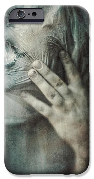Horror Digital Art iPhone Cases - Ghosts.Echoes.SilentSounds. iPhone Case by Joanna Jankowska