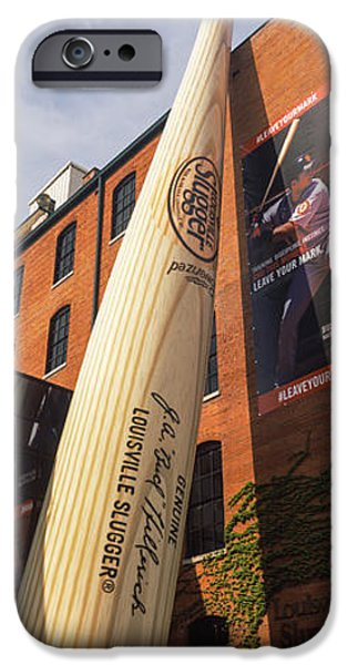 Facade iPhone Cases - Giant Baseball Bat Adorns iPhone Case by Panoramic Images