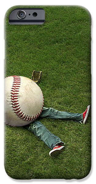 Giant Baseball iPhone Case by Diane Diederich
