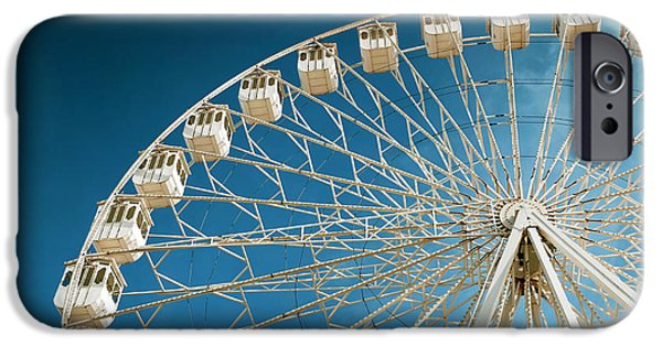 Spin iPhone Cases - Giant Ferris Wheel iPhone Case by Carlos Caetano