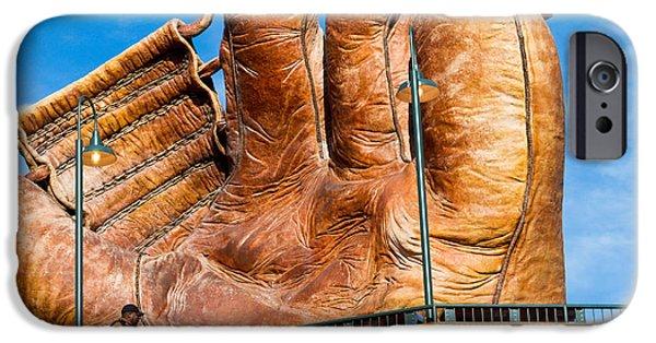 Baseball Glove iPhone Cases - Giant Glove iPhone Case by Bernard  Barcos