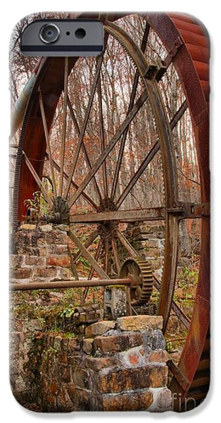 Grist Mill iPhone Cases - Giant Grist Mill Gears iPhone Case by Adam Jewell
