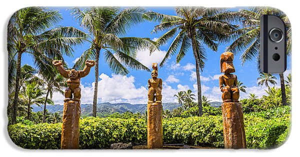 Pcc iPhone Cases - Giant Hawaiian Tiki Statues iPhone Case by Eric Evans