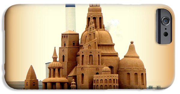 Sand Castles iPhone Cases - Giant Sand Castle iPhone Case by John Potts
