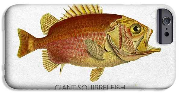 Giant iPhone Cases - Giant Squirrelfish iPhone Case by Aged Pixel