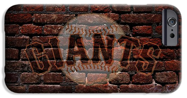 Business Digital Art iPhone Cases - Giants Baseball Graffiti on Brick  iPhone Case by Movie Poster Prints