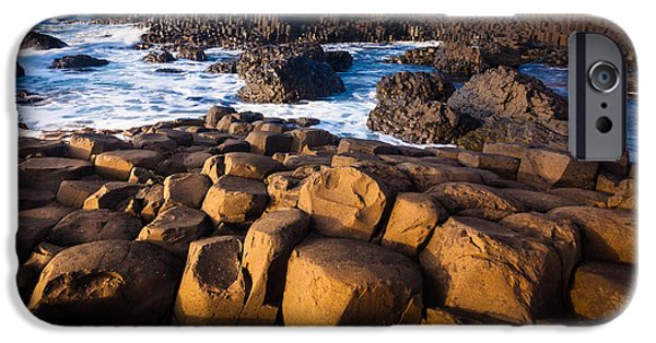 Emerald Green iPhone Cases - Giants Causeway Surf iPhone Case by Inge Johnsson