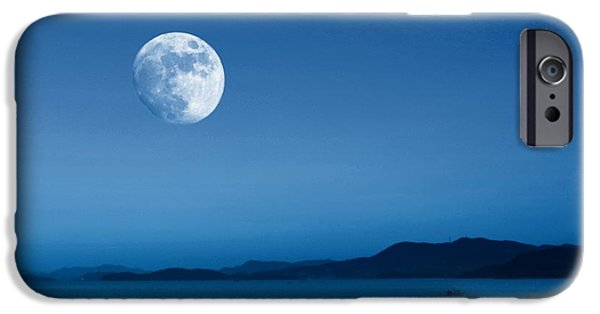 Moonscape iPhone Cases - Gibbous Moonscape iPhone Case by Scott Cameron