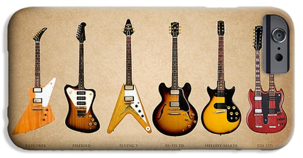 Music Photographs iPhone Cases - Gibson Electric Guitar Collection iPhone Case by Mark Rogan