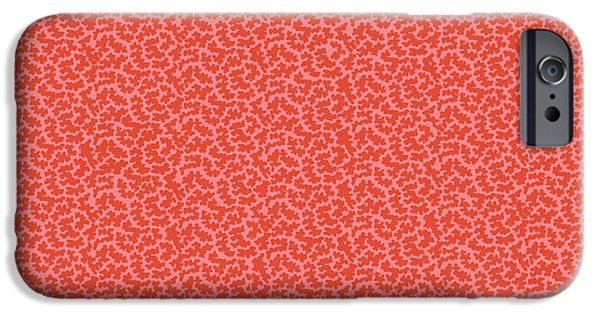 Patterns Paintings iPhone Cases - Gibweed coral iPhone Case by Kimberly McSparran