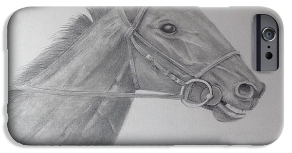 Kentucky Derby Drawings iPhone Cases - Giddy Up iPhone Case by Ron Cartier