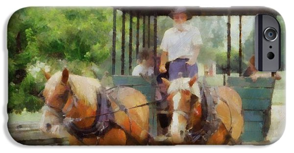 Horse And Buggy Mixed Media iPhone Cases - Giddyup iPhone Case by Dan Sproul