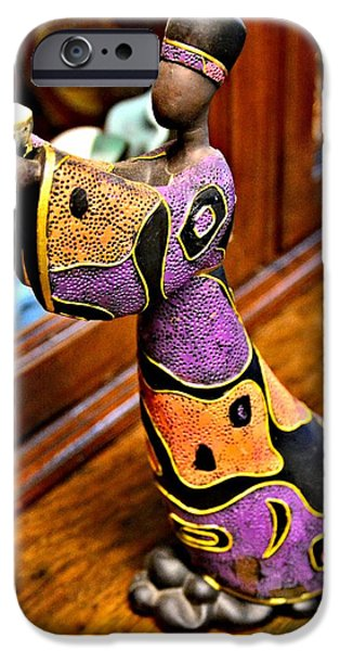 African-americans Ceramics iPhone Cases - Gift Offering iPhone Case by Rondahl Mitchell