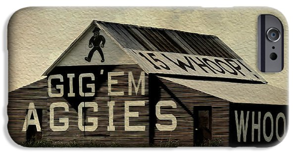 Ems iPhone Cases - Gig Em Aggies iPhone Case by Stephen Stookey