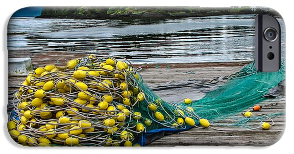 Bouys iPhone Cases - Gill net iPhone Case by Robert Bales