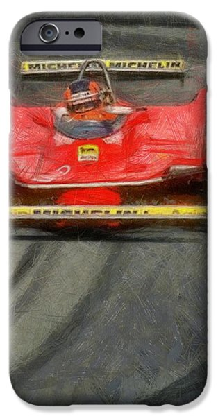 Michelin iPhone Cases - Gilles drift iPhone Case by Tano V-Dodici ArtAutomobile