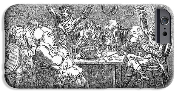 1801 iPhone Cases - Gillray: Tavern, 1801 iPhone Case by Granger